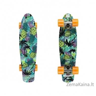"22"" Mini riedlentė, Penny lenta, plastikas, ABEC-11 guoliai Fish Print Pineapple SO"