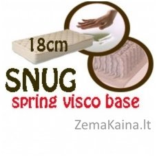 Čiužinys SNUG spring visco base 200*160*18
