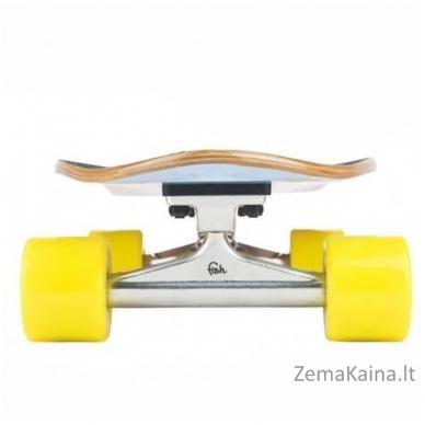 "26"" Riedlentė / longboardas, kanados klevas, ABEC-11 guoliai Fish Old School Cruiser Szczupak Yellow 2"