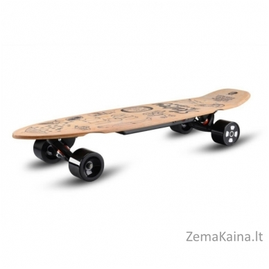 "36"" Elektrinė riedlentė / logbordas su valdymo pulteliu Skatey 350L Wood Art"