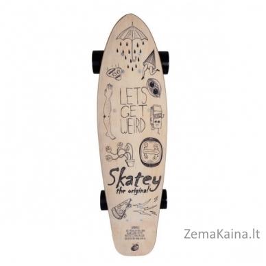 "36"" Elektrinė riedlentė / logbordas su valdymo pulteliu Skatey 350L Wood Art 2"