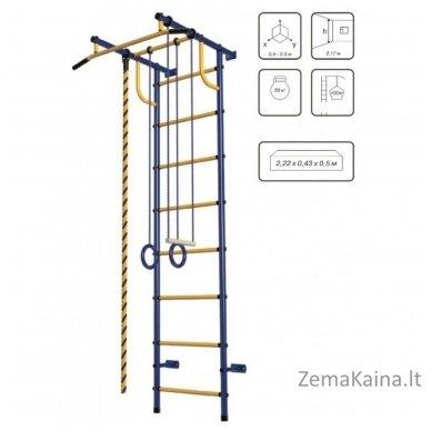 Vaikiškos (švediškos)  laipiojimo kopetėlės Pioner-C2P Blue/Yellow 2