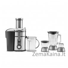 Sulčiaspaudė Gastroback  4 in 1 Type Automatic juicer, Stainless steel, 1300 W, Extra large fruit input, Number of speeds 5