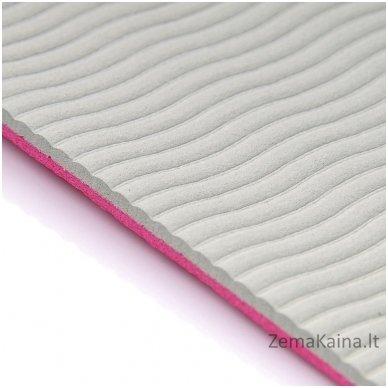 Aerobikos kilimėlis Meteor TPE Yoga rožinis/pilkas 6
