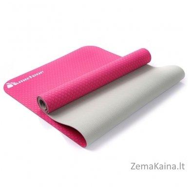Aerobikos kilimėlis Meteor TPE Yoga rožinis/pilkas 5