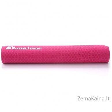 Aerobikos kilimėlis Meteor TPE Yoga rožinis/pilkas 3