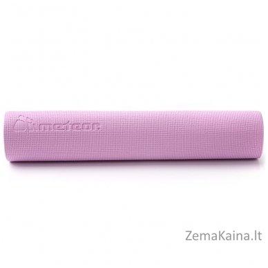 Aerobikos kilimėlis Meteor PVC Yoga rožinis/mėtinis 4
