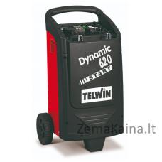Akumuliatoriaus įkroviklis - paleidėjas TELWIN DYNAMIC 620 START 230V 12-24V