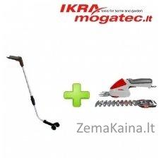 Akumuliatorinės žolės ir gyvatvorių žirklės 7,2 V Flexo Trim FGBS 80 Li + reguliuojamo ilgio laikiklis