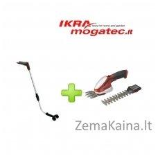 Akumuliatorinės žolės ir gyvatvorių žirklės 7,2 V Ikra Mogatec GBS 9054 Li + reguliuojamo ilgio laikiklis