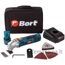 Akumuliatorinis daugiafunkcinis įrankis Bort BMW-12Li-FDK, 12V, 2x1,5Ah