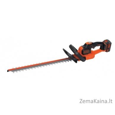 Akumuliatorinės gyvatvorių žirklės GTC18504PC 18V 4Ah 50 cm, Black+Decker