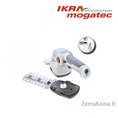 Akumuliatorinės žolės ir gyvatvorių žirklės 3,6V Ikra Mogatec IGBS 3.6 USB 4