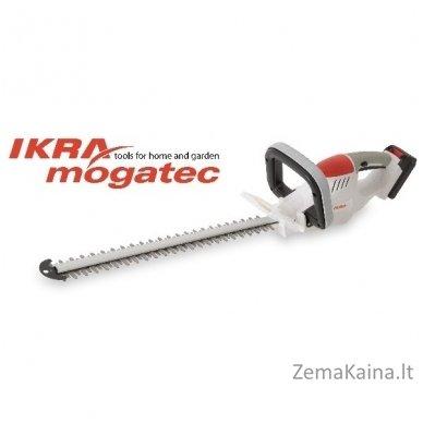 Akumuliatorinės žolės ir gyvatvorių žirklės Ikra Mogatec IAHS 20-5115 2