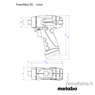 Akumuliatorinis suktuvas-gręžtuvas METABO POWERMAXX BS BASIC 3
