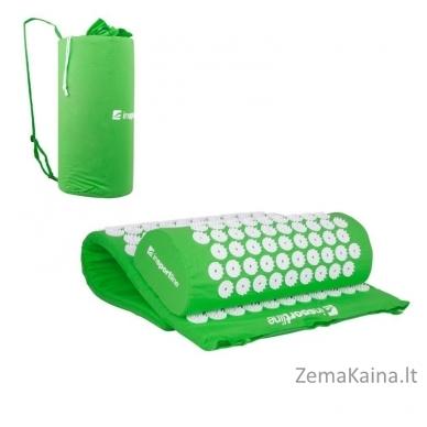 Akupresūros masažuoklis-aplikatorius (pagalvėlė + kilimėlis) inSPORTline Alavea Green