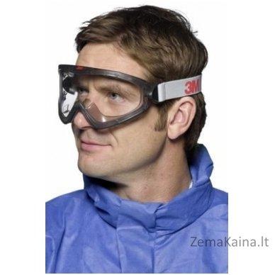 Apsauginiai akiniai 2890, polikarbonatas, ventiliuojami, 3M 2