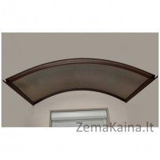 Arkinis surenkamas stogelis RODEO, rudas rėmas, skaidri danga 6mm