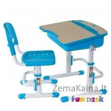 Augantis vaikiškas stalas ir kėdė FunDesk Capri Blue