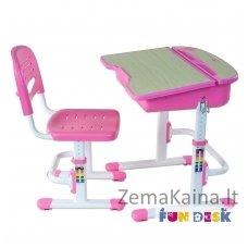 Augantis vaikiškas stalas ir kėdė FunDesk Capri Pink