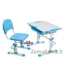 Augantis vaikiškas stalas ir kėdė FunDesk CUBBY LUPIN VB
