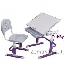 Augantis vaikiškas stalas ir kėdė FunDesk CUBBY LUPIN VG