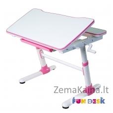 Augantis vaikiškas stalas transformeris FunDesk Carezza pink