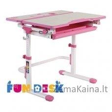 Augantis vaikiškas stalas transformeris FunDesk Lavoro L Pink