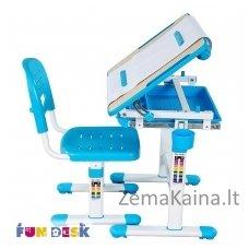 Augantis vaikiškas stalas transformeris ir kėdė FunDesk Bambino Blue