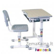 Augantis vaikiškas stalas transformeris ir kėdė FunDesk Piccolino Grey