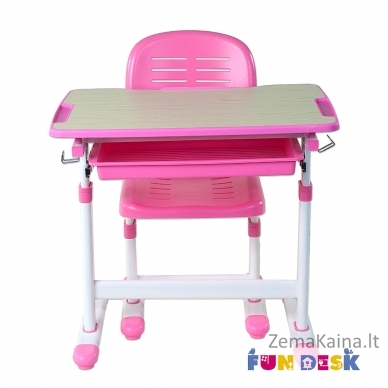 Augantis vaikiškas stalas FunDesk Piccolino  pink 3