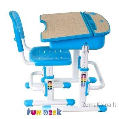 Augantis vaikiškas stalas ir kėdė FunDesk Capri Blue 9