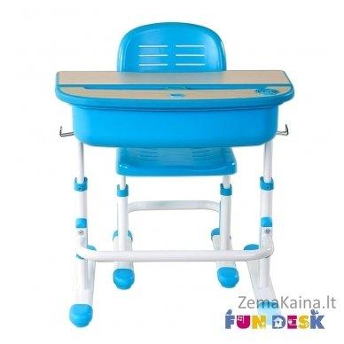 Augantis vaikiškas stalas ir kėdė FunDesk Capri Blue 8