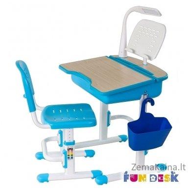 Augantis vaikiškas stalas ir kėdė FunDesk Capri Blue 7