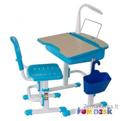 Augantis vaikiškas stalas ir kėdė FunDesk Capri Blue 6