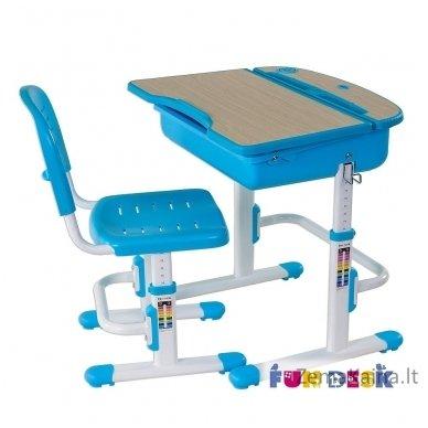 Augantis vaikiškas stalas ir kėdė FunDesk Capri Blue 5