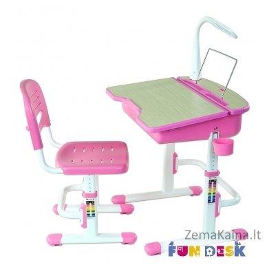 Augantis vaikiškas stalas ir kėdė FunDesk Capri Pink 9
