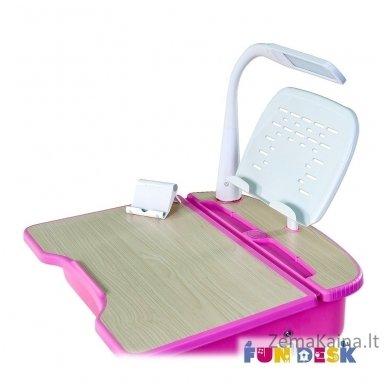 Augantis vaikiškas stalas ir kėdė FunDesk Capri Pink 7