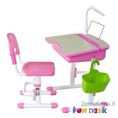 Augantis vaikiškas stalas ir kėdė FunDesk Capri Pink 6