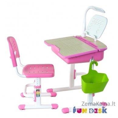 Augantis vaikiškas stalas ir kėdė FunDesk Capri Pink 5