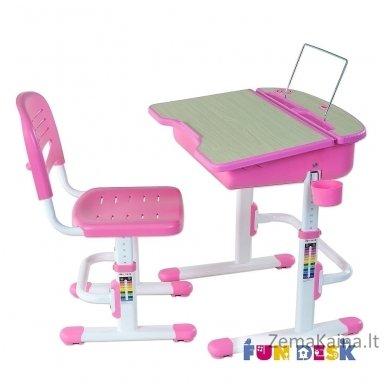 Augantis vaikiškas stalas ir kėdė FunDesk Capri Pink 4