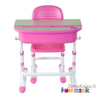 Augantis vaikiškas stalas ir kėdė FunDesk Capri Pink 10