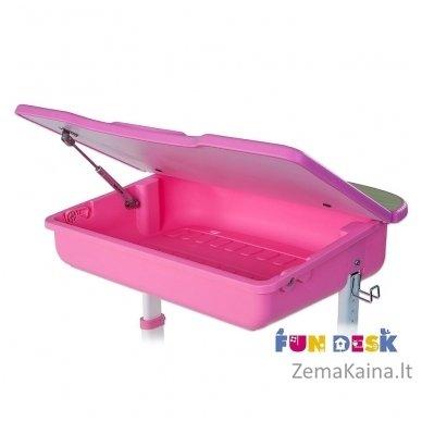 Augantis vaikiškas stalas ir kėdė FunDesk Capri Pink 2