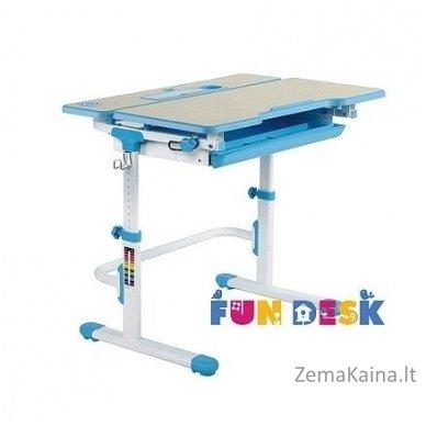 Augantis vaikiškas stalas transformeris FunDesk Lavoro L Blue