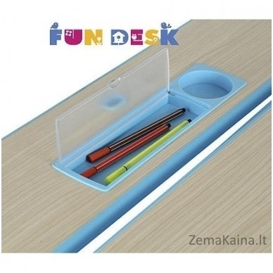 Augantis vaikiškas stalas transformeris FunDesk Lavoro L Blue 6