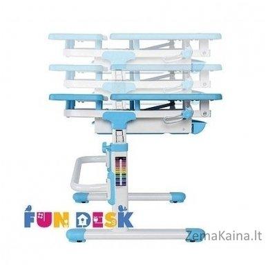 Augantis vaikiškas stalas transformeris FunDesk Lavoro L Blue 5
