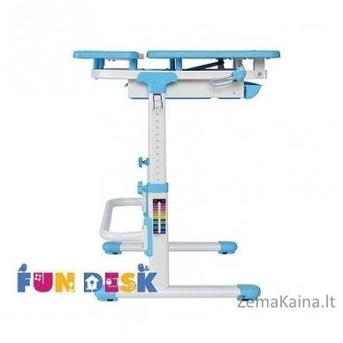 Augantis vaikiškas stalas transformeris FunDesk Lavoro L Blue 3