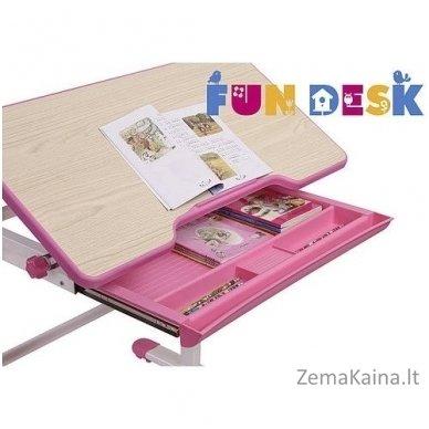 Augantis vaikiškas stalas transformeris FunDesk Lavoro L Pink 5