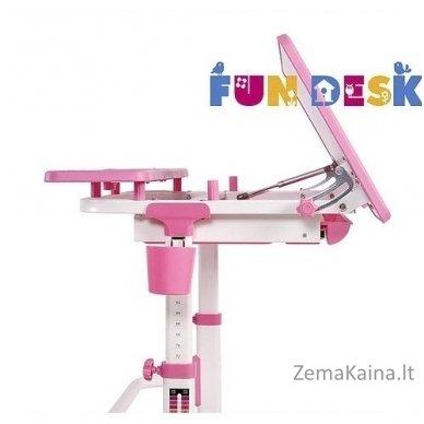Augantis vaikiškas stalas transformeris FunDesk Lavoro L Pink 4