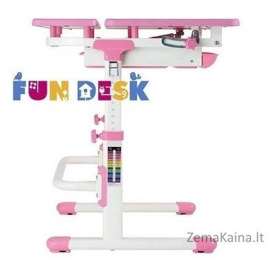 Augantis vaikiškas stalas transformeris FunDesk Lavoro L Pink 3